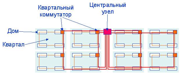 На рисунках ниже приведены схемы организации домовой сети. с точки зрения возможной географической привязки узлов и с...